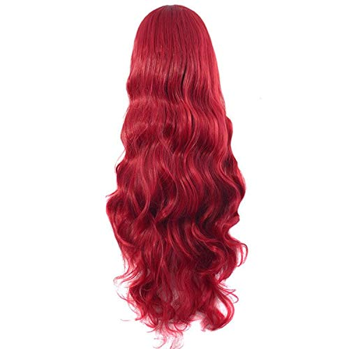 PAPWELL Mera Red Wig Costume for Women Lady Adult Girls Accessories DC Queen Sexy Deluxe Halloween Cosplay Aquaman Justice League Theme