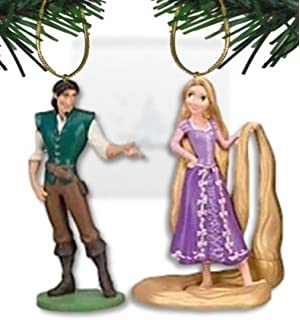 Disney's Tangled 'Rapunzel and Flynn' Ornament Set - (2) PVC Ornaments  Included