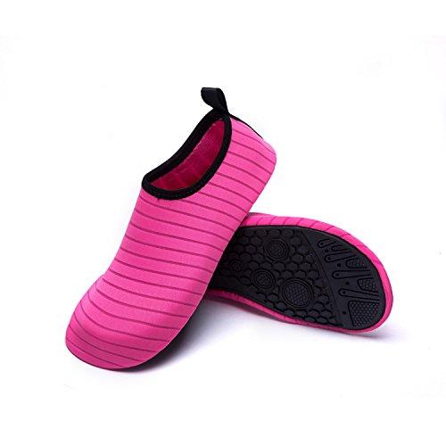 Natación Playa de de Zapatos LK Color Zapatos red Secado Rápido Unisex Piscina LEKUNI de Agua C Respirable Agua de Soles de Calzado FqYfFHx