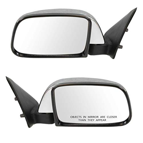 Manual Side View Mirrors Pair Set for 89-95 Toyota Pickup Left & Right Chrome