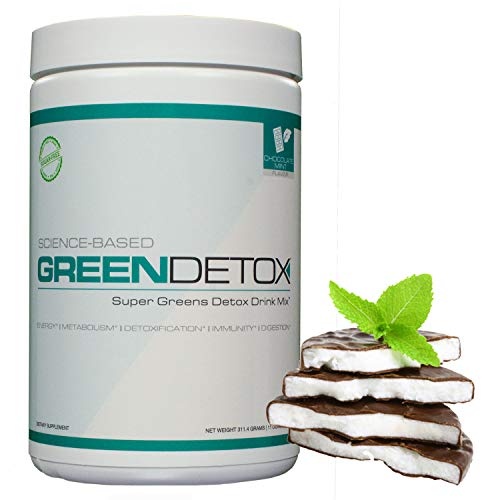 Green Detox - Super Greens Detox Drink Mix - Vegan Friendly - Chocolate Mint Flavor