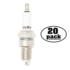 20-Pack Compatible Spark Plug for TOPPO Lawn Mower & Garden Tractor with Honda OHV Engines - Compatible Champion RN12YC & NGK BPR5ES Spark Plugs