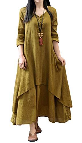 Coolred-femmes Linge Manches Longues Robe Bouffante Faux Deux Pleine Longueur Robe De Bal Pattern2