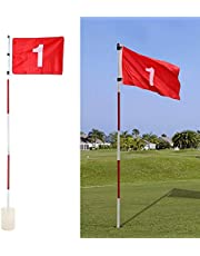 Putting Green Golf Flags - Verwijderbare Golf Flagsticks Praktijk Hole Cup Met Vlag Golf Pin Vlaggen Voor Standaard Golfbaan