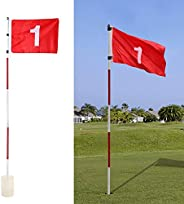 Golf Flagsticks Putting Green Flags Practice Hole Cup with Flag Golf Pin Flags Great for Standard Golf Course