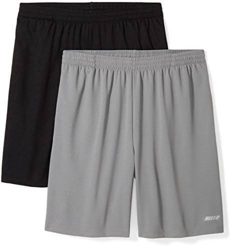 Amazon Essentials Men's 2-Pack Loose-Fit Performance Mesh Shorts