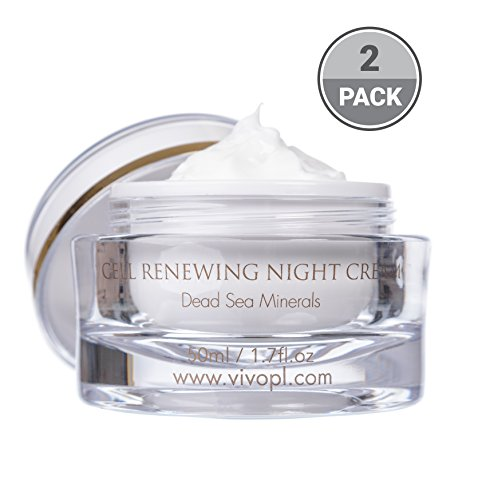 Vivo Per Lei Cell Renewal Night Cream, Get Intense Results with Gentle Non-Greasy Formulas, 1.7 Fl. Oz, Pack of 2