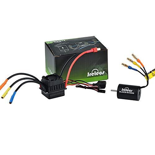 370 Brushless Motor - Jrelecs 2838 3600KV 4P Sensorless Brushless Motor & 45A Brushless ESC Electronic Speed Controller for 1/14 1/16 1/18 RC Car (2838 3600kv)