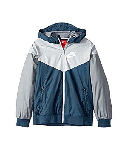 NIKE Kids Sportswear Windrunner Jacket (Small Youth Boys - Big Kids) Full Zip 850443-454 by NIKE