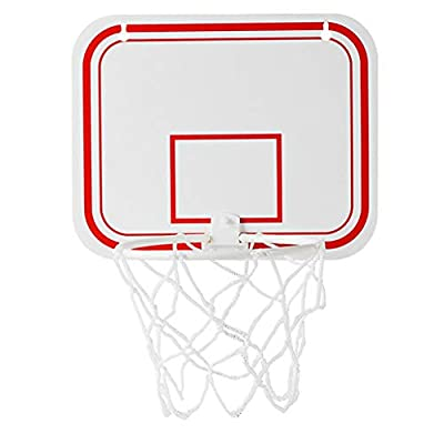 HAOWANG Plastic Basketball Box Set Indoor Adjustable Hanging Basketball Frame with Mini Basketball Board Basketball Frame Ball Sports Set for Kids: Toys & Games