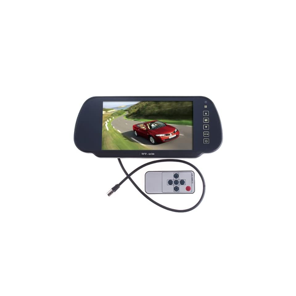 7 Color TFT LCD Car Rearview Monitor for Camera DVD VCR