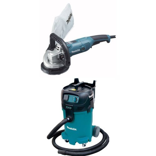 Makita Hand Held Vacuums (Makita PC5000C 5-Inch Concrete Planer  with Makita VC4710 12-Gallon Wet/Dry Vacuum)