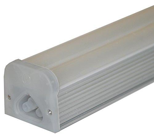 Sleeklighting t5 led double bar tube lighting 2 ft frosted for Tube led garage