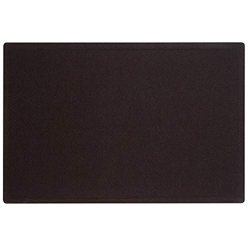 Quartet Bulletin Board, Fabric, 4' x 3', Frameless, Fiberboard, Oval Office, Black ()
