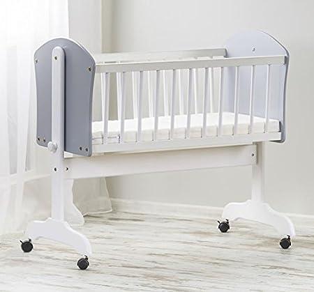 Bebé de madera Columpio balancín cuna/cuna somier + colchón ...