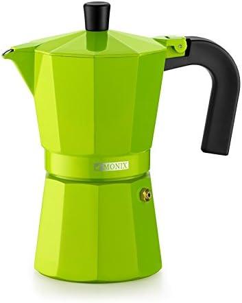Mango fabricado en baquelita termo-resistente con formato ergonómico,Capacidad para 6 tazas de café