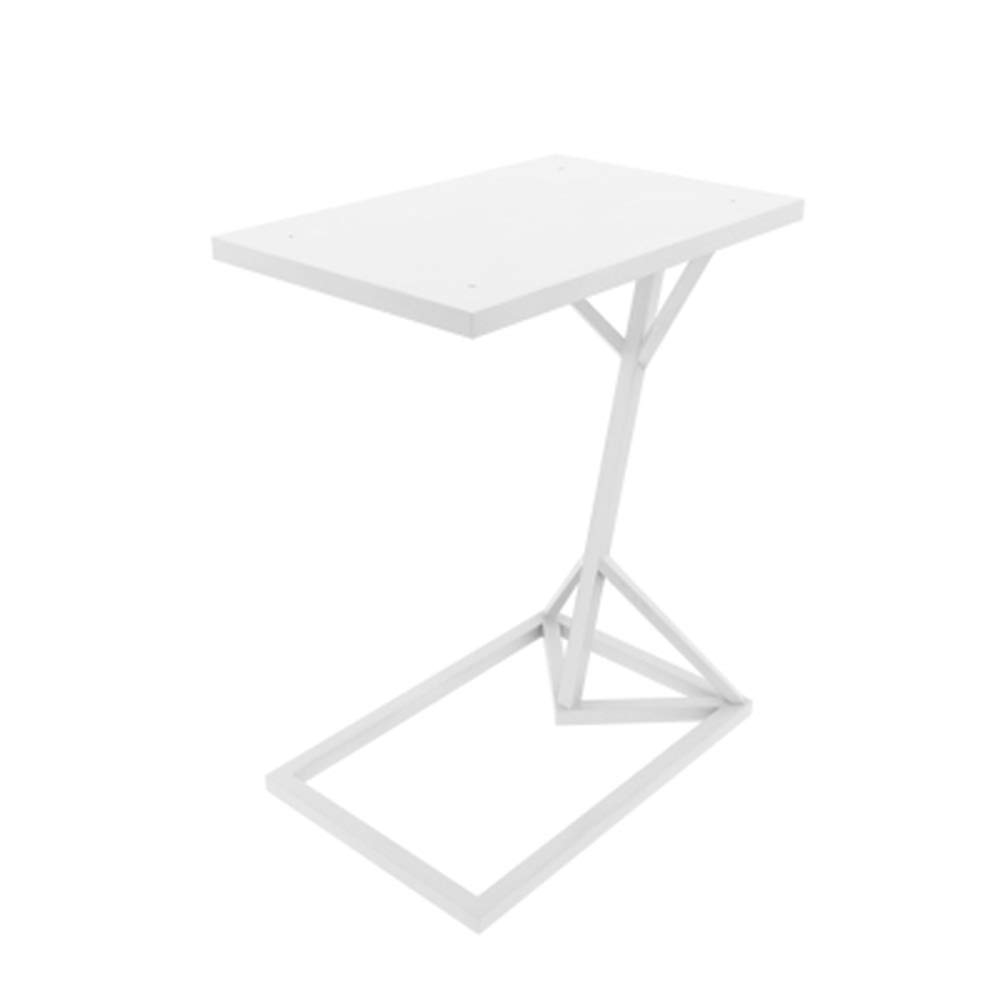 A Feifei C-Shaped Sofa Side Table Multi-Function Coffee Table Home Mini Side Table, White, 30  45  58CM (color   A)