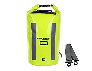 OverBoard Waterproof Pro-Vis Dry Tube Bag, Yellow, 20-Liter ROC Gear Wholesale OB1148HVY