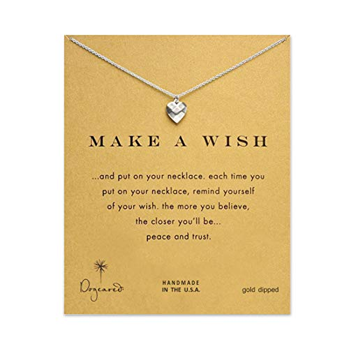 LANG XUAN Message Card Heart Pendant Necklace Friendship Unicorn Good Luck Elephant Pendant Chain Necklace with Gift Card