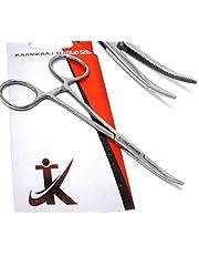 """KKT Premium Quality Crile Hemostat Forceps Curved 5.5"""" (14cm), Full Serrated, Ratcheted Lock"""