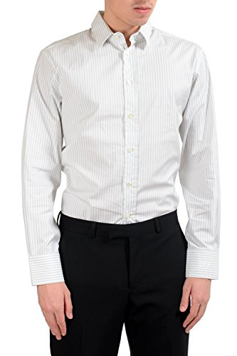 Dolce & Gabbana Men's Striped Long Sleeve Dress Shirt US 15.75 IT 40