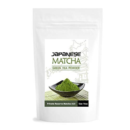 (Matcha Private Reserve A23 16oz | USDA Certified Organic | Ceremonial Grade Japanese Green Tea Powder | Pure Vegan Unsweetened Matcha | Premium Quality | Matcha Outlet)