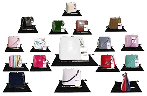 Genuine Italian Leather, Small/Micro Cross Body Bag or Shoulder Bag Handbag. Includes a Protective Storage Bag.