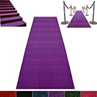 Purple Event Carpet Luxurious Quality Aisle Runner 4ft wide x 10ft long