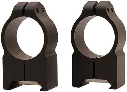 "Warne 201M Scope Mounts Maxima Fixed Ring 1/"" Medium Matte WR201M"