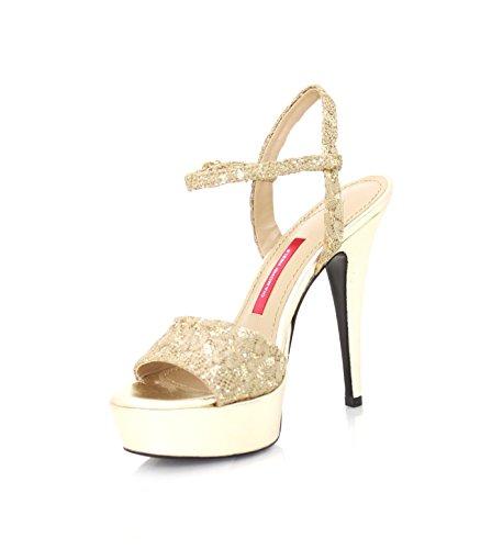 Diamond Heels - Sandalias de vestir de Piel para mujer dorado dorado