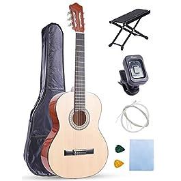 Classical Guitar Acoustic Guitar for Beginner 36 Inch 3/4 Size Nylon Strings Kid Guitar Bundle Starter Kit with Bag…