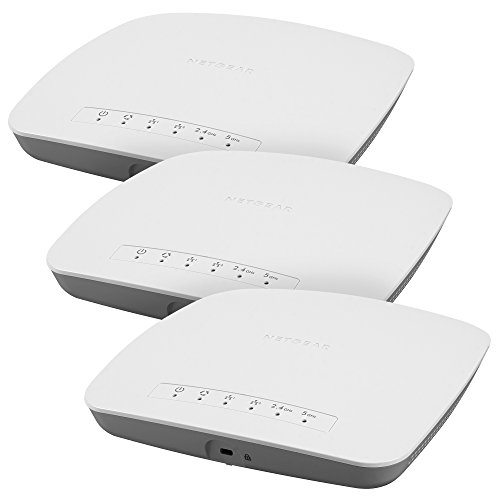 NETGEAR Insight WiFi Access Point (3pk), PoE, Long-Range, Easy setup and Free remote management, 5-year warranty [No power adapter] (WAC510 x3 )