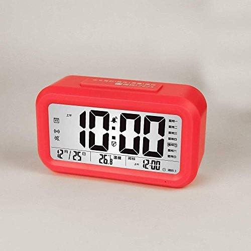 子供用目覚まし時計、創造的なスマート時計、スマートアラーム、大画面、3グループの目覚まし時計、音声時間、多機能発光時計