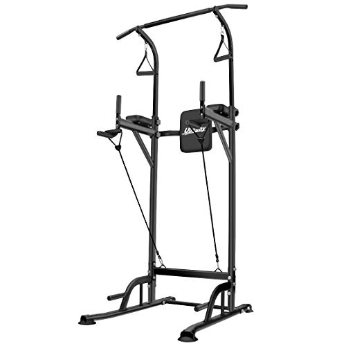 UBOWAY Heavy Duty Power Tower – Home Gym Adjustable Multi-Function Fitness Strength Training Equipment Stand Workout Station