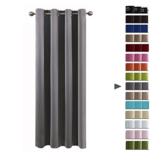 PONY DANCE Eyelet Blackout Curtain - Thermal Insulated Super Soft Solid...