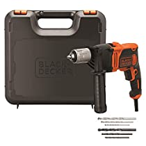BLACK+DECKER BEH850K Taladro Percutor con Cable 850W, Portabrocas 13Mm, incluye 6 brocas y maletín
