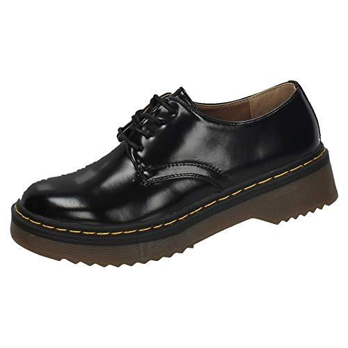 Negro Cordón K1825501 Zapatop Zapatos Mujer Cordones Con wqBTxZ1fTY
