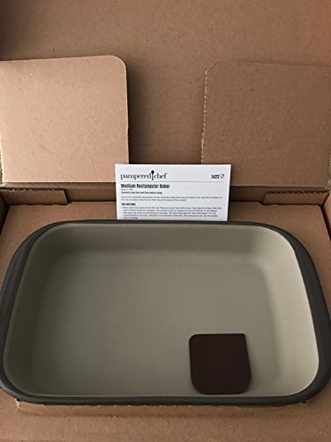 PAMPERED CHEF 2016 UPDATED GREYSTONE GLAZED 7X11 8 CUPS MEDIUM RECTANGULAR BAKER (Bakers Cups Chef And)