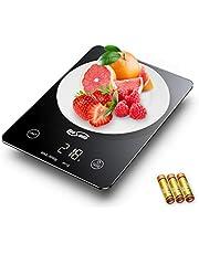 Housmile Bilancia Cucina Digitale da Vetro Temperato ad Alta precisione Misurazione 3g - 5kg, Dotato di Funzione Tara, Bilancia Multifunzione per Cucina con Display LCD Colore Nero