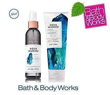 Amazoncom Bath Body Works Aquamarine Set Body Cream And Fine