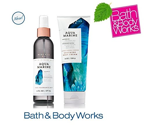 Bath & Body Works AQUAMARINE Set - Body Cream and Fine Fragrance Mist Full Size by Bath & Body Works