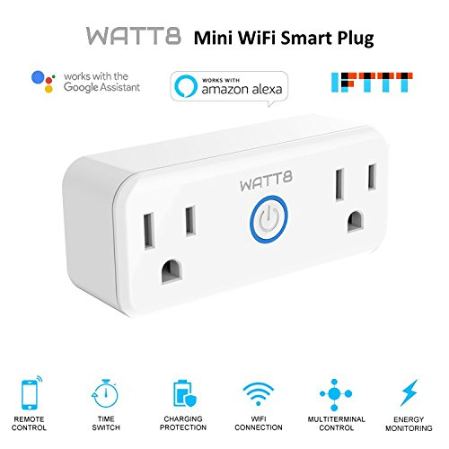 WATT8 Mini Wi-Fi Smart Plug, Dual Outlet, Works with Amazon Alexa and Google Assistant, No Hub Required, Control Your Appliances by Smart Phone and voice With Timing Function From Anywhere by WATT8 (Image #9)