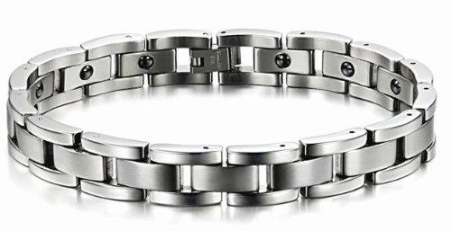 Marque Nouveaux Hommes de Titane Bracelet Magnétique Anti-fatigue, Anti-rayonnement dans une Belle Boîte Cadeau -BR229