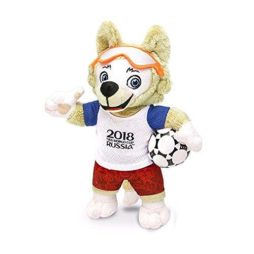 - 2018 FIFA World Cup Russia Souvenirs Stash Wolf Zabivaka Plush Toy