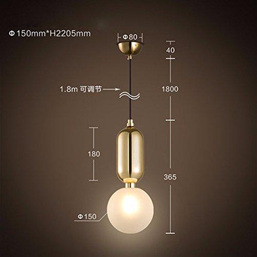 Simple de hierro y vidrio creativos Droplight colgante LED modernos apliques de luz para Comedor lámpara colgante...