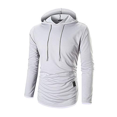 Hoodies falsa con hombre Aimee7 piezas dos de Camiseta azul Sudadera Camiseta marino capucha para 4qCxdw1