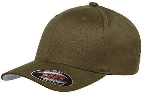 Flexfit Premium Original Yupoong 6277 Wooly Combed Twill 6 Panel Cap (Large/X-Large, Olive) ()