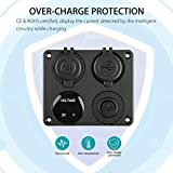 Linkstyle 4 in 1 Charger Socket Panel, 12V 4.2A