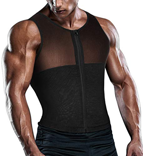 b260a002bf017 TAILONG Men Shirt Vest Slimming Underwear Body Shaper Tight Tank Top Waist  Trimmer Tummy Control Girdle