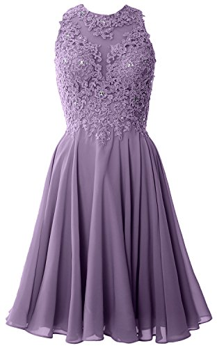 Party Lace Neck Short Guest Wisteria MACloth High Women Dress Gown Wedding Homecoming xqI05Ew